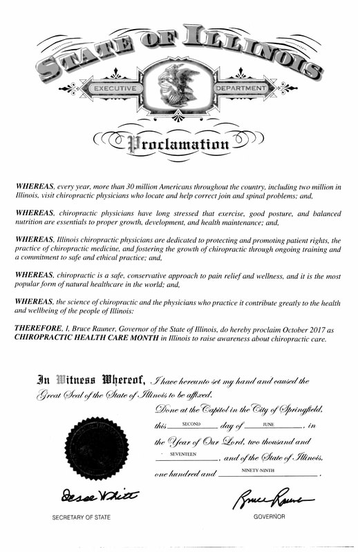 Illinois Chiropractic Proclamation 2017