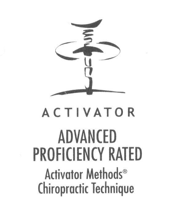 Dr. Kyle Johnson is the only chiropractor in Peoria to be advanced proficiency rated by Activator Methods