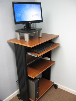 Standing desk at Johnson Family Chiropractic of Peoria